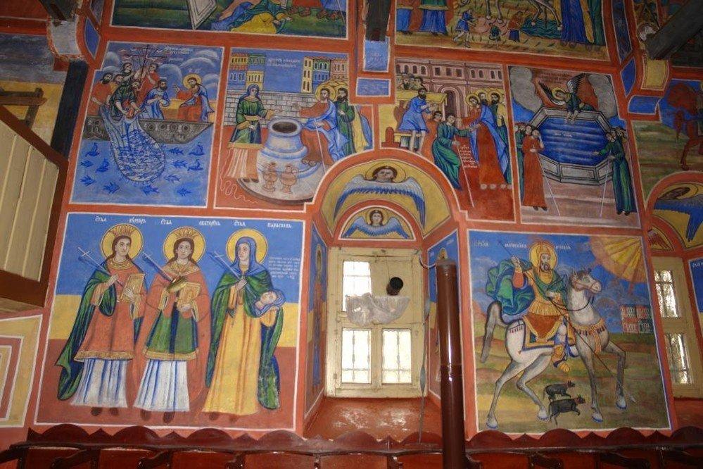 """Северната стена в """"Свети Харалампий"""" - след реставрация"""
