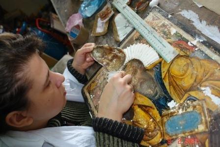 Любомира Стефанова, разделяне на живопис