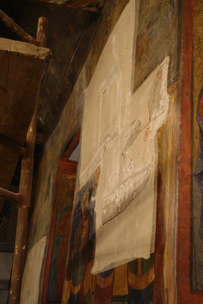 След връщане на живописта с мазилката на стената
