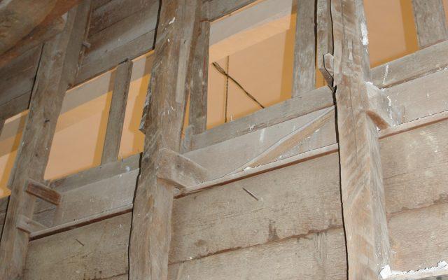 Детайл от иконостаса преди реставрация-гръб