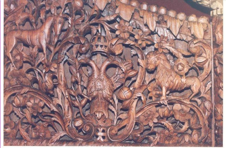 Детайл от иконостаса след реставрация