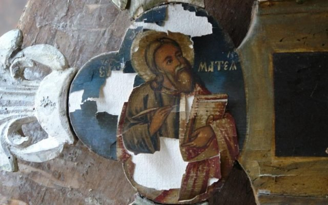 Детайл от кръста преди реставрация-5