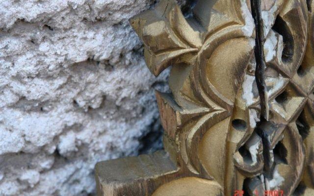 Детайл от царските двери преди реставрация-3