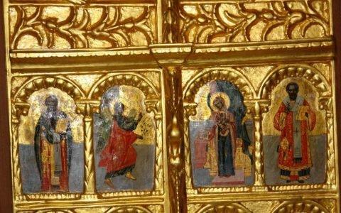 Детайл от царските двери след реставрация-2