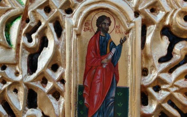 Детайл от царските двери след реставрация