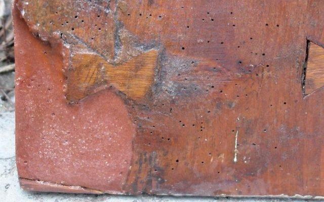 Детайл след реставрация - възстановка на основата