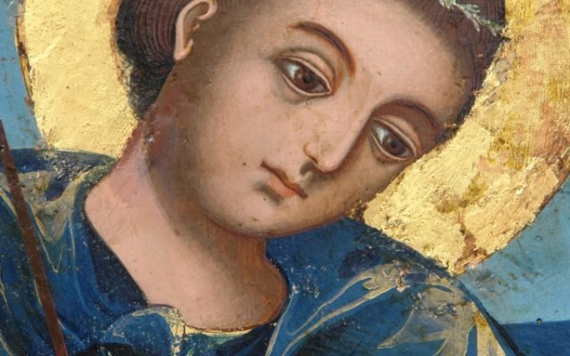 Детайл след реставрация - главата гледа надясно - оригинал