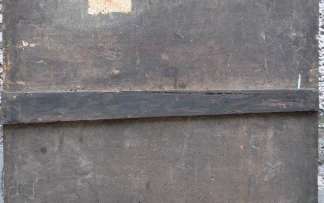 Иконата Архангелски сбор - гръб преди реставрация