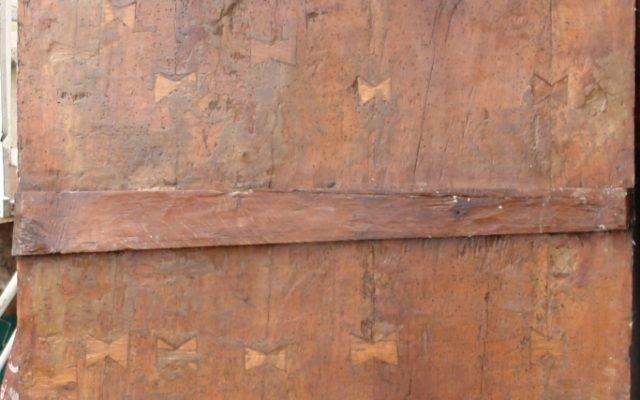 Иконата Архангелски сбор - гръб след реставрация
