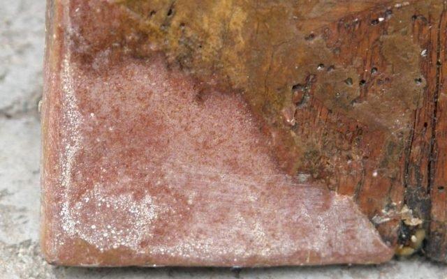 Иконата Архангелски сбор - детайл гръб след реставрация