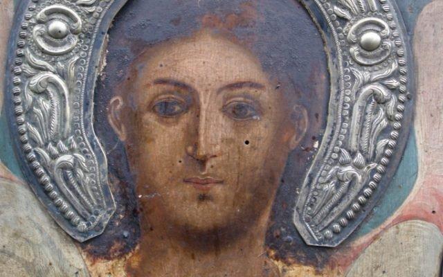 Иконата Архангелски сбор - детайл преди реставрация-2