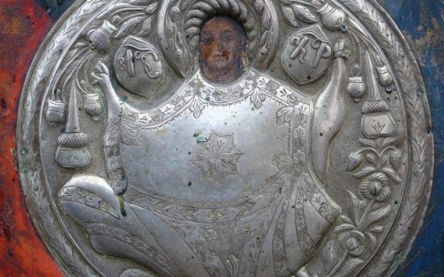 Иконата Архангелски сбор - детайл преди реставрация-4