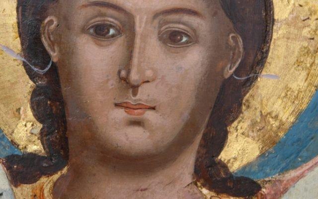 Иконата Архангелски сбор - детайл след реставрация-2