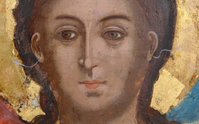 Иконата Архангелски сбор - детайл след реставрация-3
