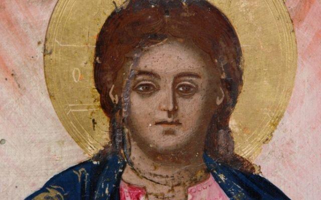 Иконата Архангелски сбор - детайл след реставрация-5