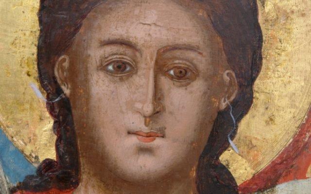 Иконата Архангелски сбор - детайл след реставрация