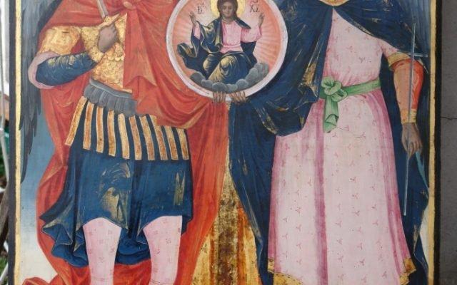 Иконата Архангелски сбор - след реставрация