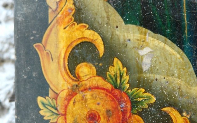Иконата Иисус Христос - детайл преди реставрация-3