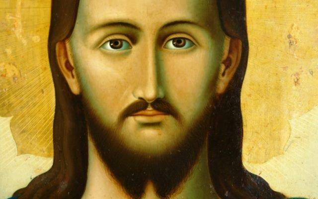 Иконата Иисус Христос - детайл след реставрация