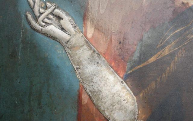 Иконата Йоан Кръстител -детайл преди реставрация