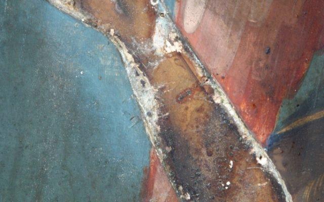 Иконата Йоан Кръстител- детайл преди реставрация