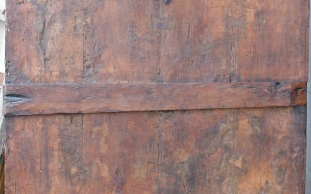 Иконата Св.Богородица гръб след реставрация