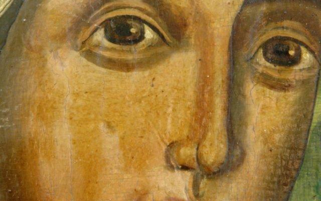 Иконата Св. Богородица - детайл преди реставрация