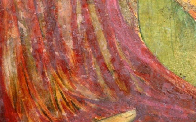 Иконата Св. Богородица - детайл преди реставрация-2