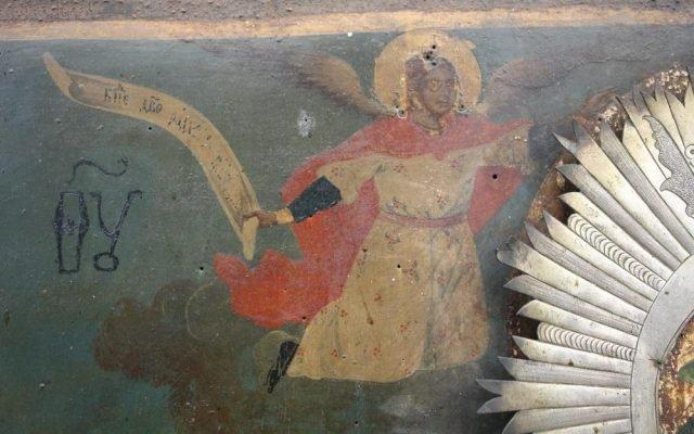Иконата Св. Богородица детайл преди реставрация-5