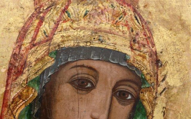 Иконата Св. Богородица детайл след реставрация-2