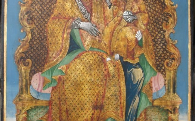 Иконата Св. Богородица след реставрация
