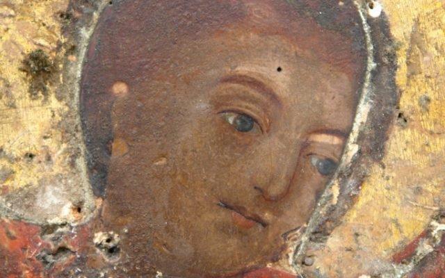 Иконата Св. Георги - детайл преди реставрация-2