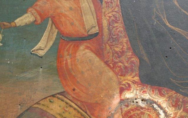 Иконата Св. Георги - детайл преди реставрация-3