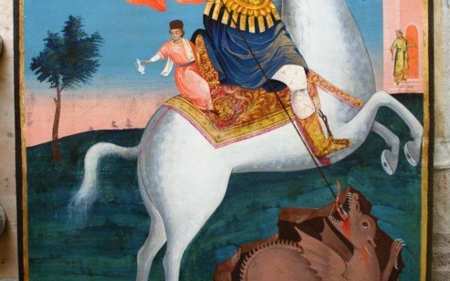 Иконата Св. Георги - след реставрация