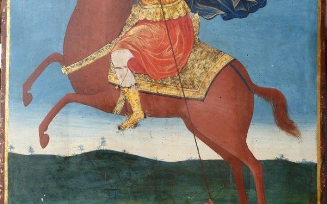 Иконата Св. Димитър - след почистване