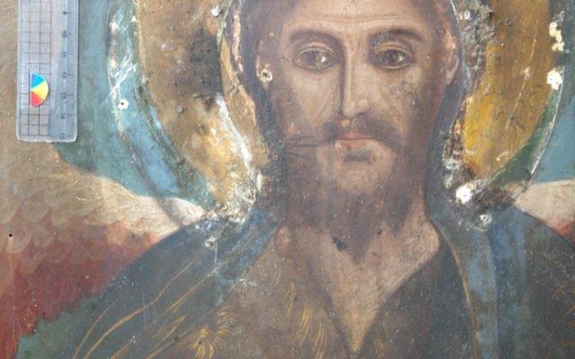 Иконата Св. Йоан Кръстител - детайл преди реставрация