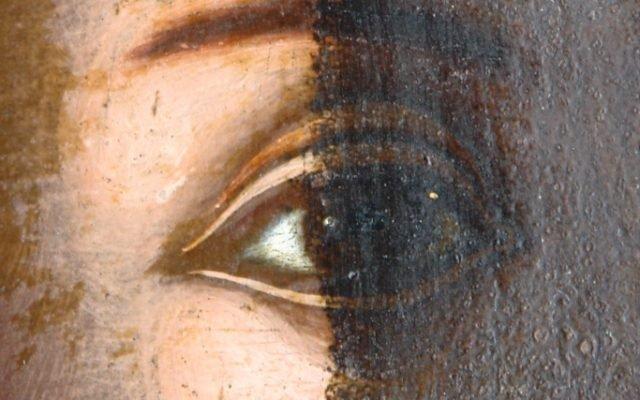 Иконата Св. Моисей - детайл по време на реставрация-2
