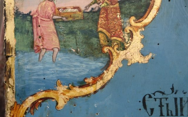 Иконата Св. Моисей - детайл по време на реставрация-3