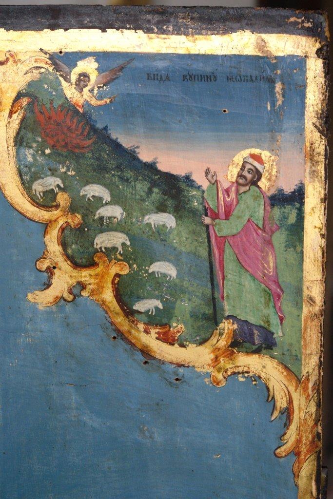 Иконата Св. Моисей - детайл по време на реставрация-4