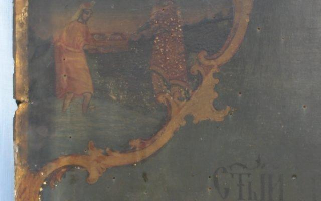 Иконата Св. Моисей - детайл преди реставрация-3