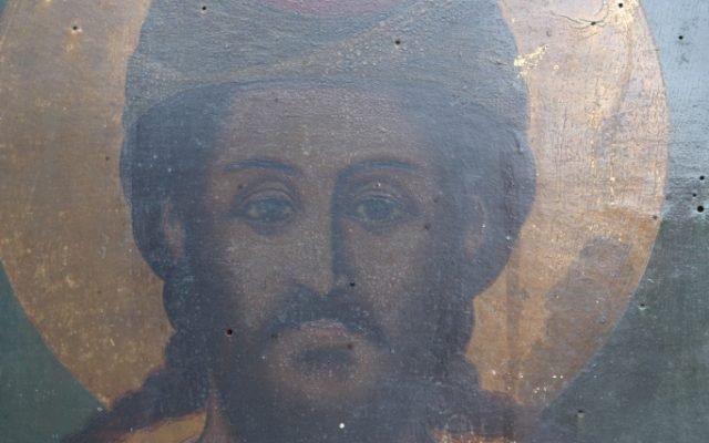 Иконата Св. Моисей - детайл преди реставрация