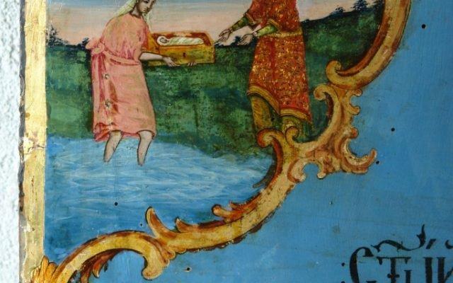 Иконата Св. Моисей - детайл след реставрация-2