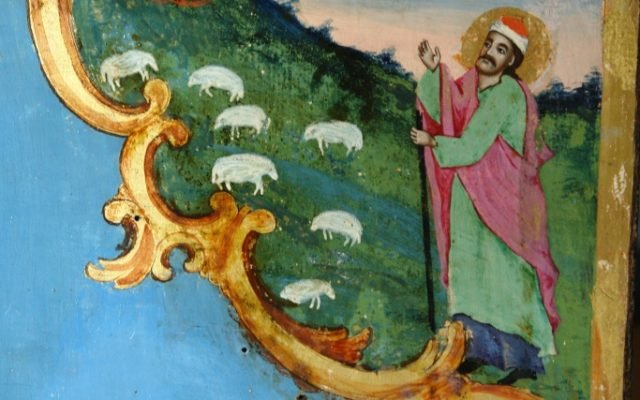 Иконата Св. Моисей - детайл след реставрация-3