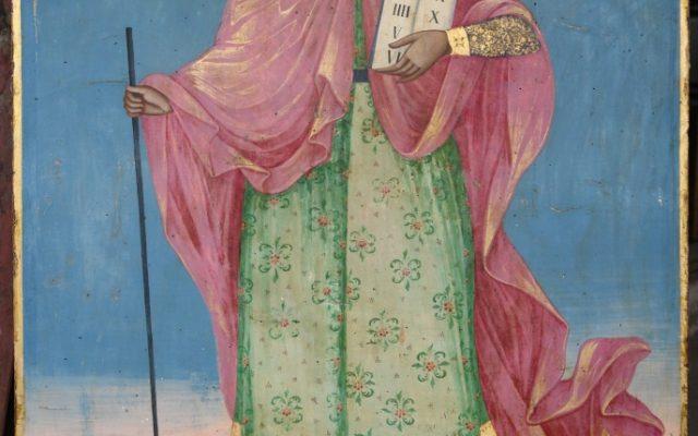Иконата Св. Моисей - по време на реставрация-2