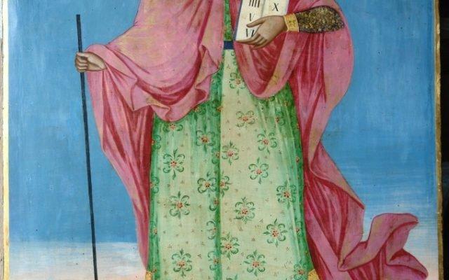 Иконата Св. Моисей - след реставрация