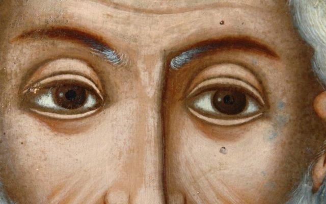 Иконата Св. Николай детайл след реставрация-2