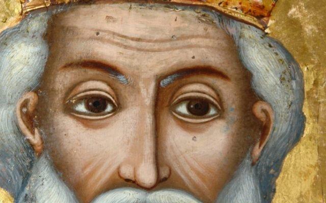 Иконата Св. Николай детайл след реставрация