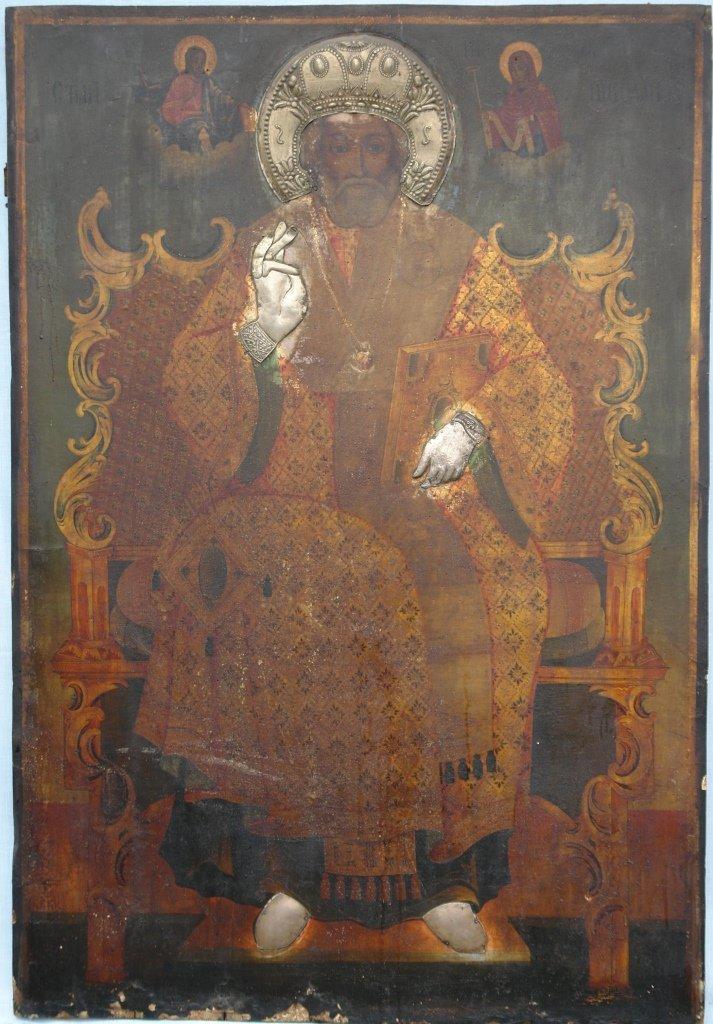 Иконата Св. Николай преди реставрация
