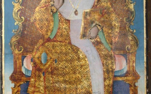 Иконата Св. Николай след почистване
