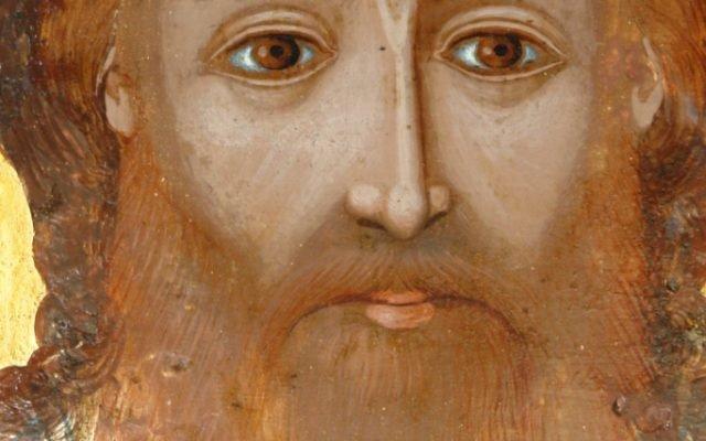 Иконата Св. Св. Три светители детайл след реставрация-2